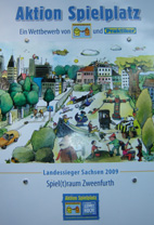 Preisschild schönster Spielplatz 2009